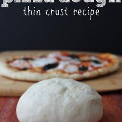 Thin Crust Pizza Dough recipe