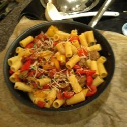 Rigatoni With Italian Sausage, Peppers, and Onions recipe