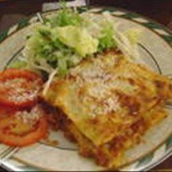 Lasagna   with a  Bit of a Bite!  recipe