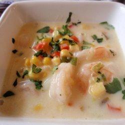 Southwest Shrimp and Corn Chowder recipe