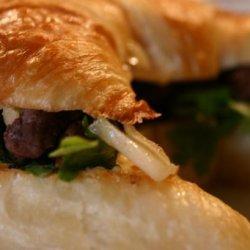 Steak and Fennel Croissant Sandwiches recipe