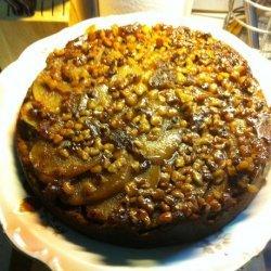Spiced Pear Upside Down Cake recipe