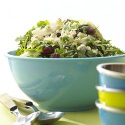 Alouette Crumbled Blue Cheese Pear and Baby Arugula Salad recipe