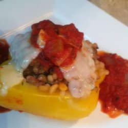 Stuffed Peppers With Couscous or Harvest Grain Blend recipe