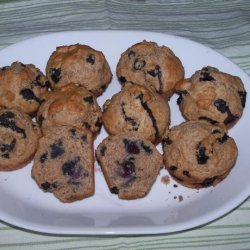 Low Fat - Whole Wheat Blueberry Muffins recipe