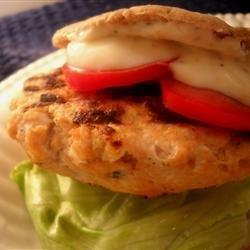 Salmon Burgers with Lemon Basil Mayo recipe