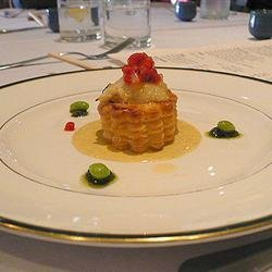 Scallops in Pastry with Lobster Sauce recipe