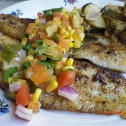 Catfish with Tropical Fruit Salsa recipe