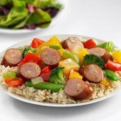 Johnsonville(R) Apple Chicken Sausage Sweet and Sour Stir Fry recipe