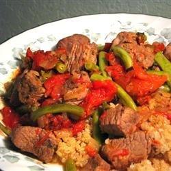 Nita's Lamb, Green Beans and Tomatoes recipe