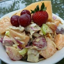 Chicken and Melon Salad recipe