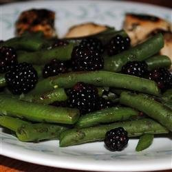 Fresh Oregano and Blackberry Green Beans recipe