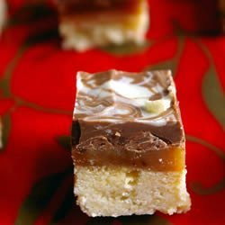 Caramel Shortbread Squares recipe