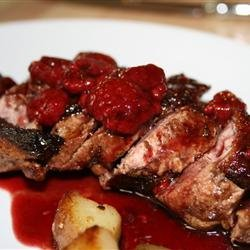 Duck Breasts with Raspberry Sauce recipe