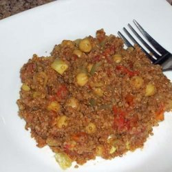 Tomato, Chick Peas and Toasted Quinoa recipe