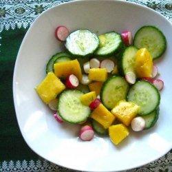 Mango & Radish Salad With Lime Dressing recipe