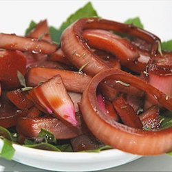 Marinated Red Onions and Dressing recipe