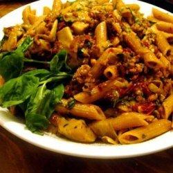 Penne With Chicken, Prosciutto, Artichoke and Sun-Dried Tomatoes recipe