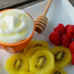 Fresh Fruit With Greek Yogurt Dip/Dressing recipe