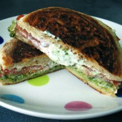 English Muffin Panini With Goat Cheese and Tomato recipe