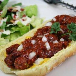 Chili Dogs, College Style! recipe