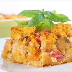 Tomato Davinci – Heirloom Tomato Savory Bread Pudding recipe