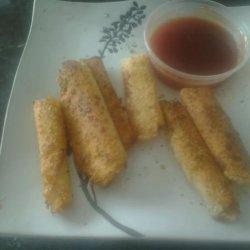 Egg Roll Mozzarella Sticks recipe