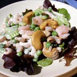 Cashew, Shrimp and Pea Salad recipe