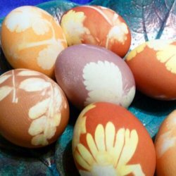 Onion and Herbs Dyed Easter Eggs recipe