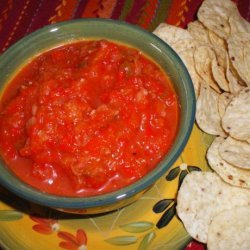 Red Pepper Dip With Taco Chips recipe