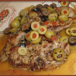 Pork Tenderloin With Olive-Piccata Sauce recipe