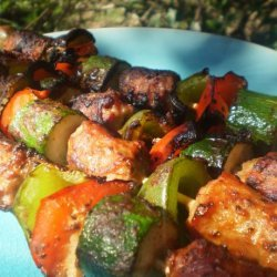 Grilled Italian Sausage Kabobs recipe