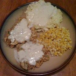 Chicken Fried Steak with Cream Pork Sausage Gravy recipe