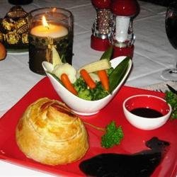 Mini Beef Wellingtons with Red Wine Sauce recipe