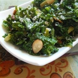 Kale with Pine Nuts and Shredded Parmesan recipe