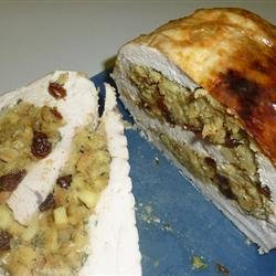 Turkey Breast Roulade with Apple and Raisin Stuffing recipe