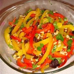 Roasted Peppers with Pine Nuts and Parsley recipe