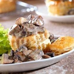 Wild Mushroom Ragout in Puff Pastry Shells recipe