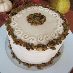 Vegan Pumpkin Spice Cake With Vanilla Maple Frosting and Spiced recipe