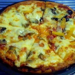 Homemade Pizza With Mild Tomato Sauce recipe