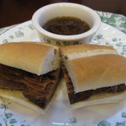 Crock Pot Beef Sandwiches Au Jus recipe