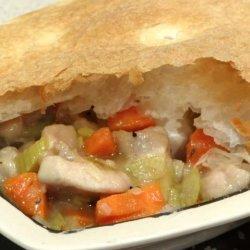 Chicken, Lemon and Leek Pot Pie recipe