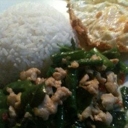 Stir Fried String Beans With Thai Basil recipe