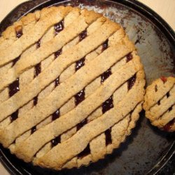Martha Stewart's Linzer Tart With Lingonberry (Or Raspberry) Jam recipe
