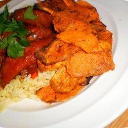 Cuban Inspried Stewed Sausages recipe