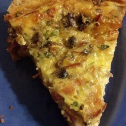 Savory Ham and Mushroom Quiche recipe