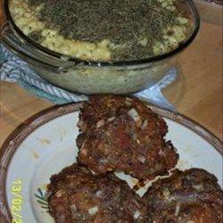 Italian Mini Meatloaves Macaroni and Three Cheeses recipe