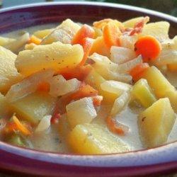 Slow Cooker Hearty Potato Soup recipe