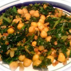 Sautéed Kale With Chickpeas and Pancetta recipe