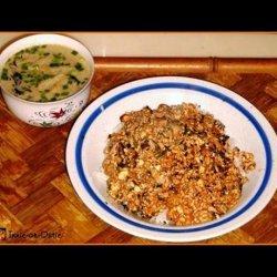 Skillet Spicy Tofu Pork Dinner recipe